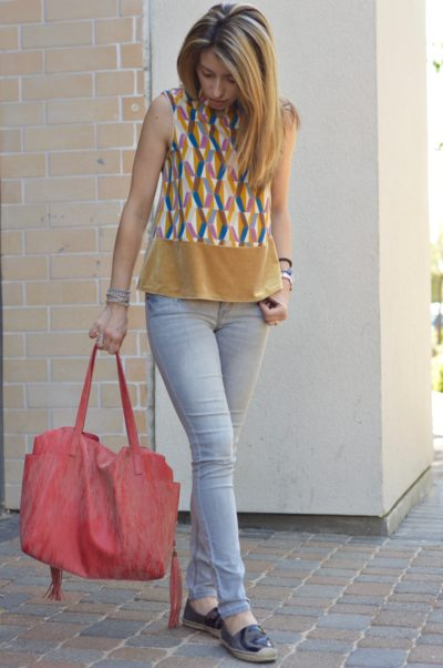 High neck sleeveless top   Fall fashion outfit   Fall look