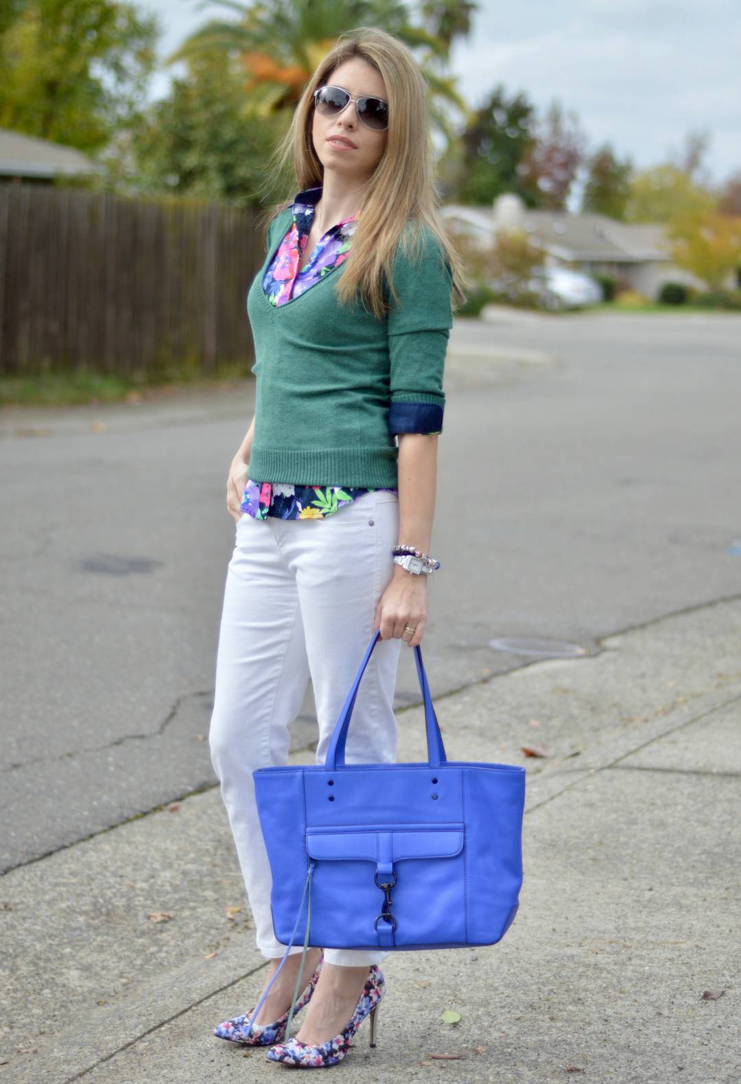 Shirt and Sweater Outfit for Fall