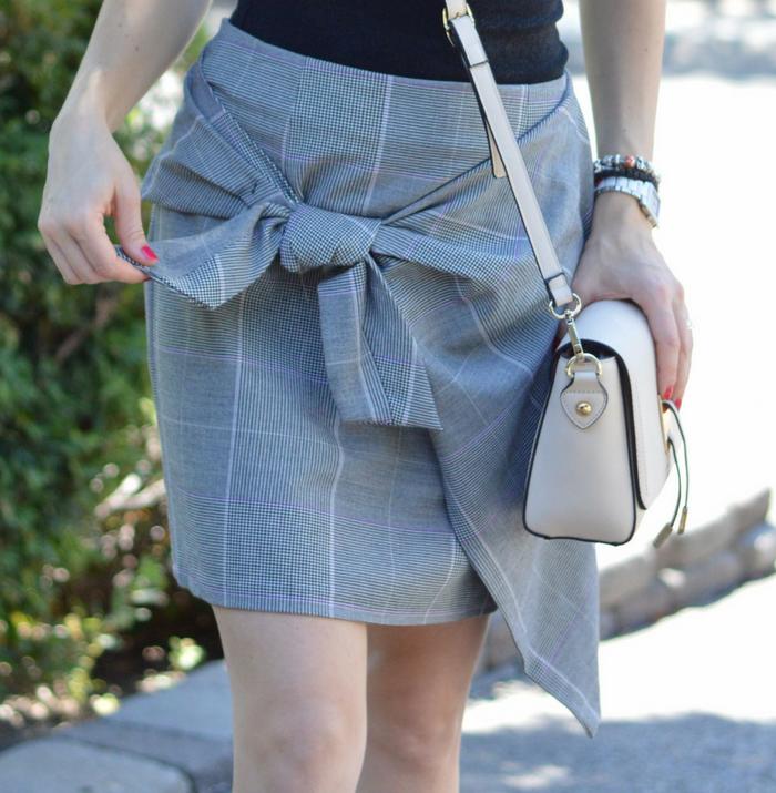 Tie skirt and Sam Edelman Sandal