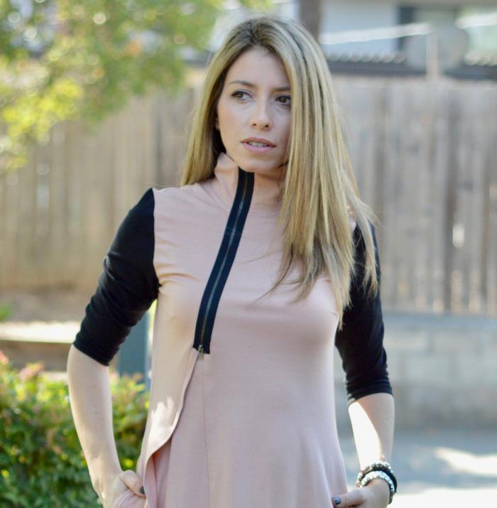Asymmetric Hem Dress for Fall