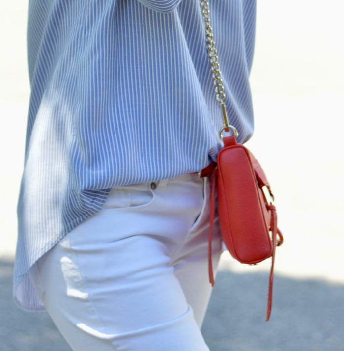 Cold Shoulder Top and White Jeans