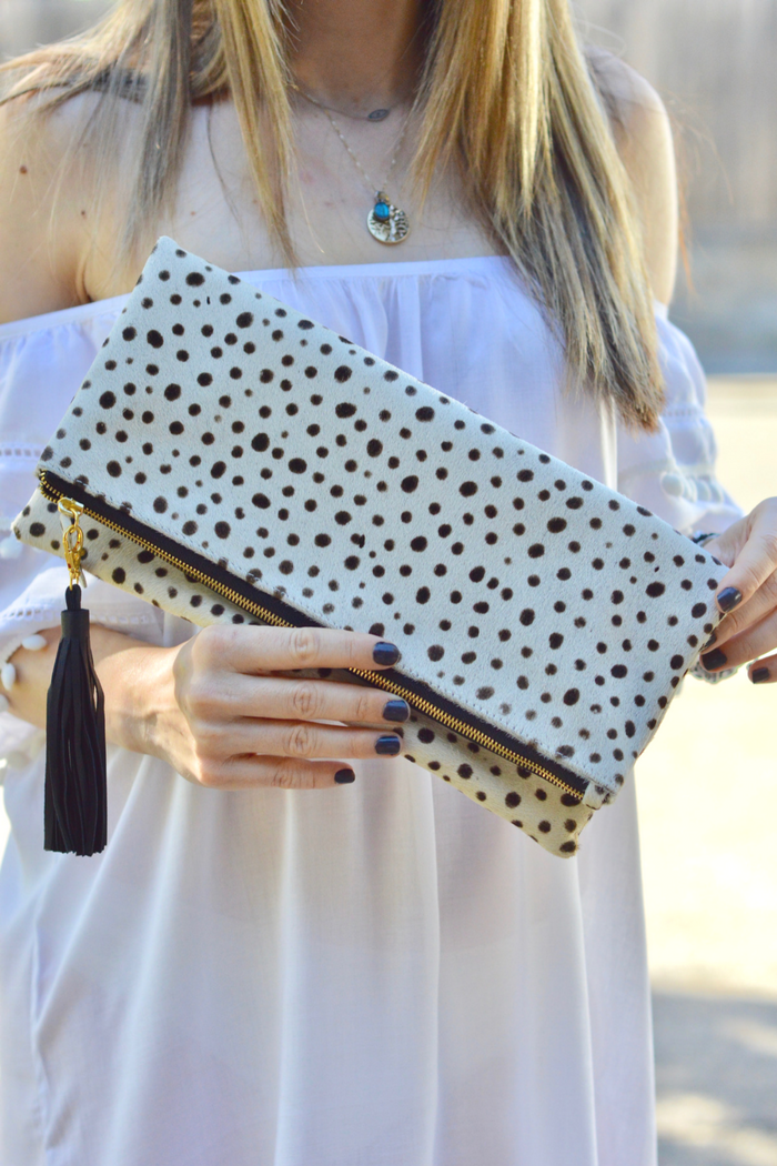 How to Style Animal Print Clutch