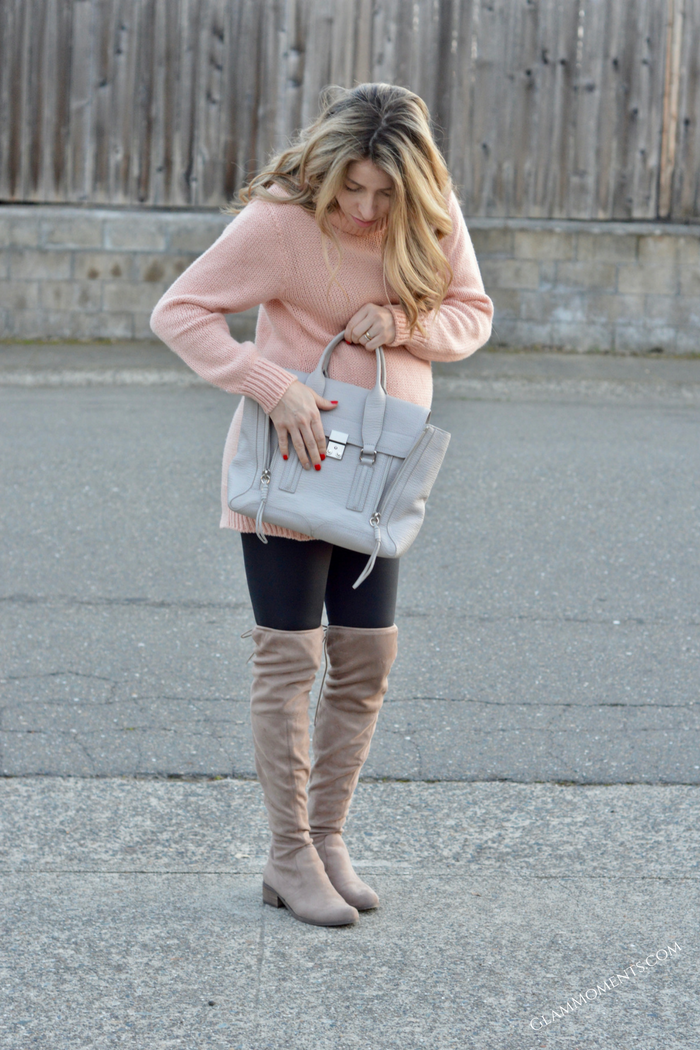 Over the Knee Boots | Maternity Outfit Idea